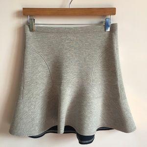 J. Crew Flared Surf Gray Mini Skirt
